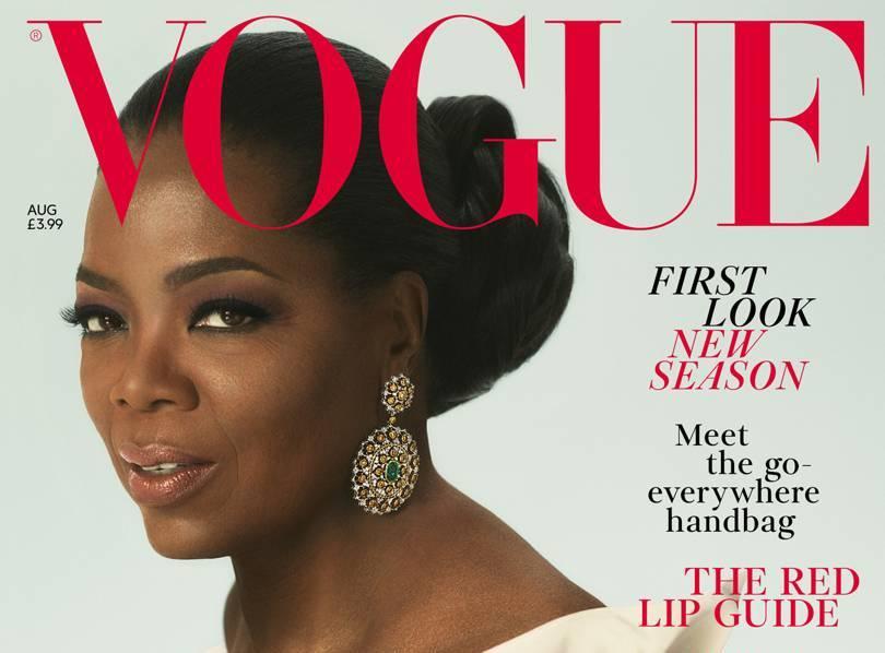 Media mogul, Oprah Winfrey covers British Vogue