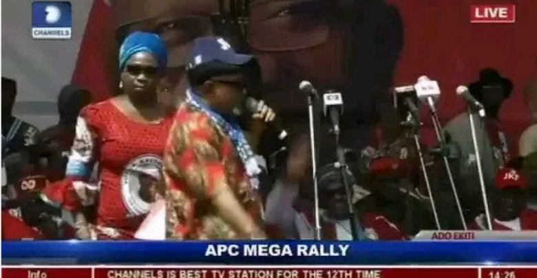 Chris Ngige 'campaigns' for Fayose at APC rally