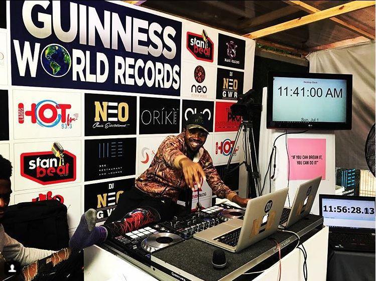 DJ Neo sets new world record for longest marathon club DJing