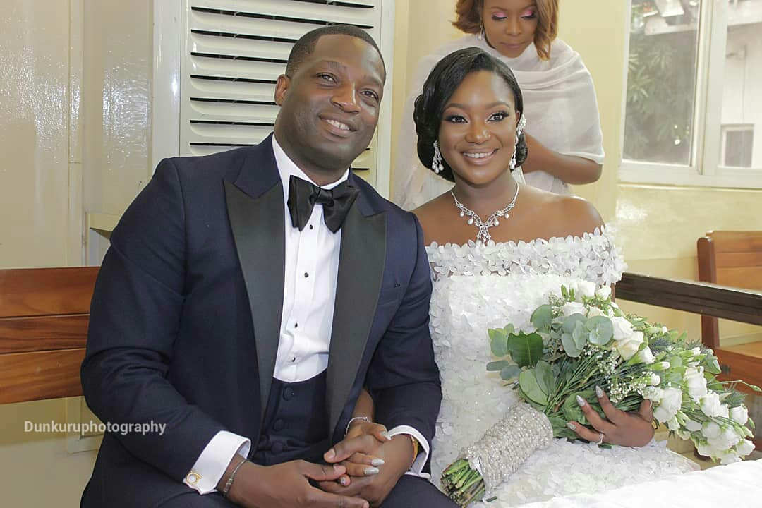 Former Ekiti State governor, Niyi Adebayo gives out daughter, Angela in marriage