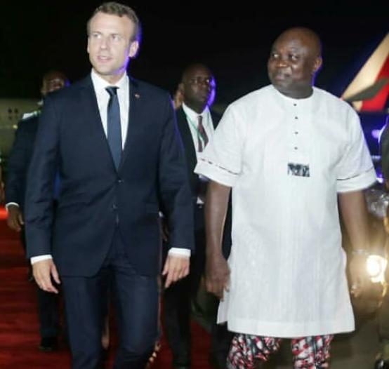 Why President Macron visited Afrika Shrine + photos of his visit