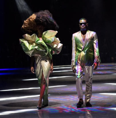 Dbanj makes fashion debut modeling for David Tlale