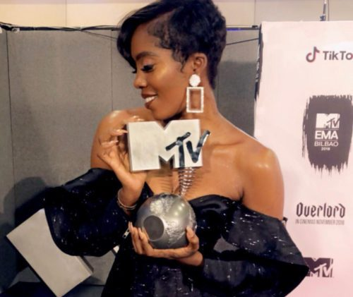 Tiwa Savage beats Davido to win MTV Europe Music award + full list of winners