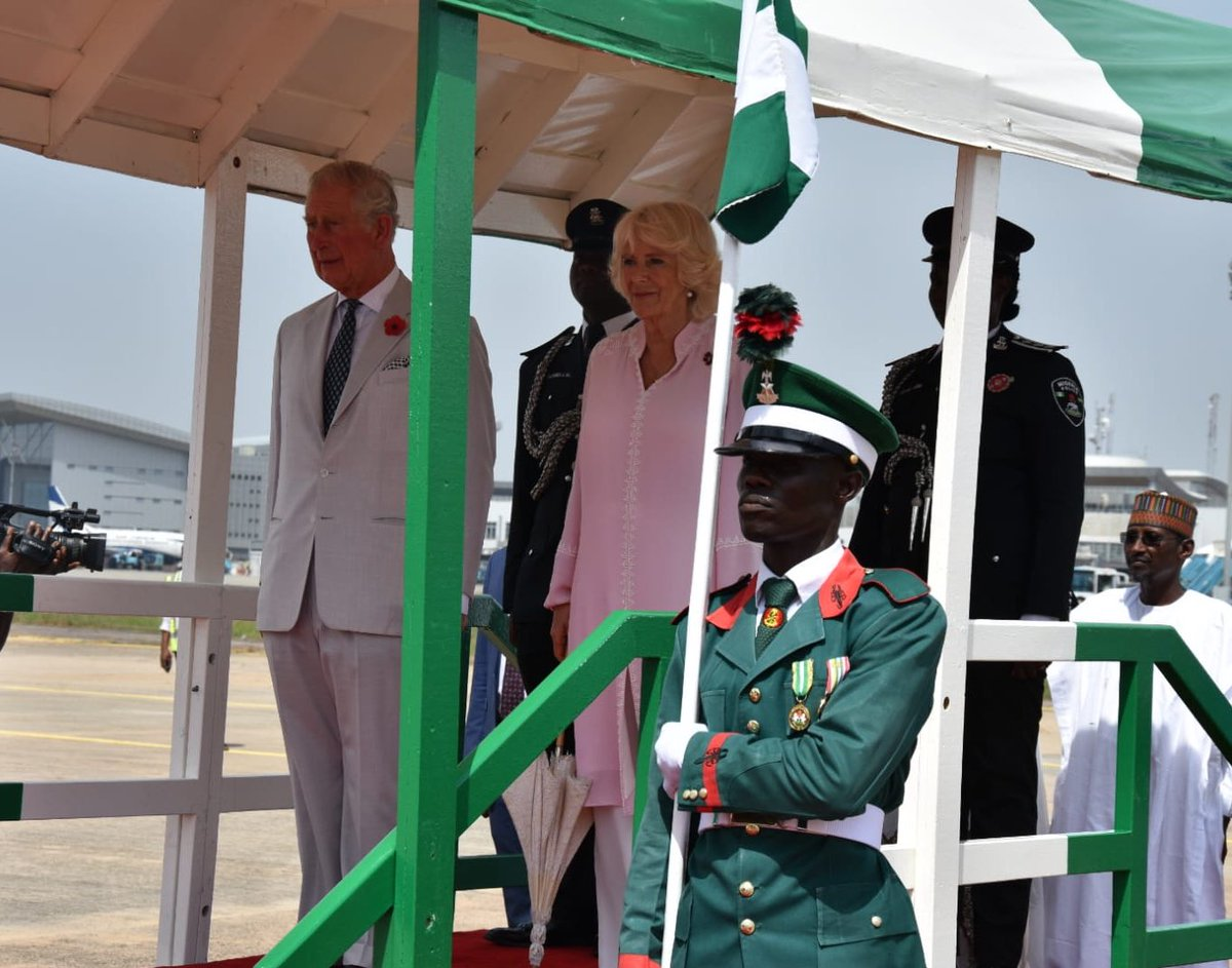 Photos, video of Prince Charles and wife, Camilla as they arrive Nigeria