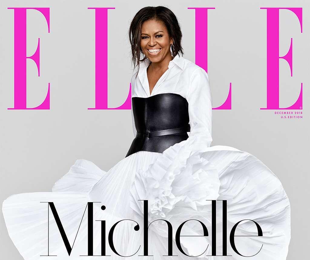 Oprah interviews Michelle Obama for Elle magazine December issue