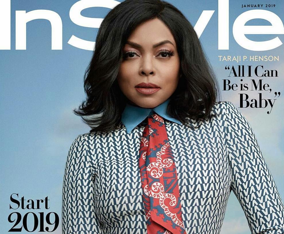 Taraji P Henson covers the January edition of Instyle magazine