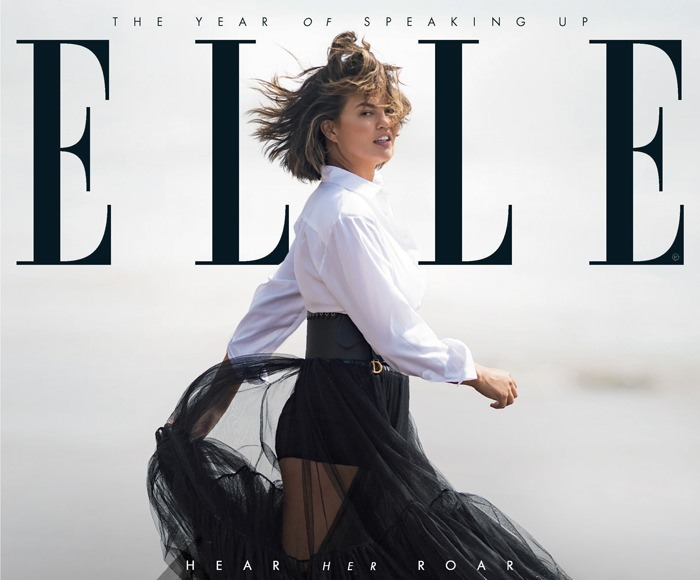 Chrissy Teigen talks body confidence, reality vs social media on Elle UK