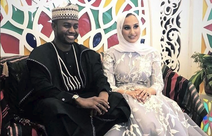 Dangote's Nephew, Mohammed competes fairy tale marital rites to Sara Fouad Saeed