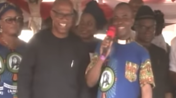 Watch as Father Mbaka curses Atiku and Obi for refusing to donate money at his church bazaar