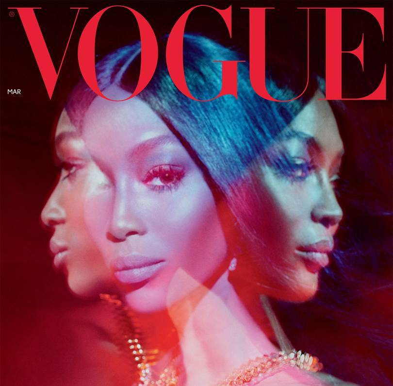 Naomi Campbell covers British Vogue, March edition