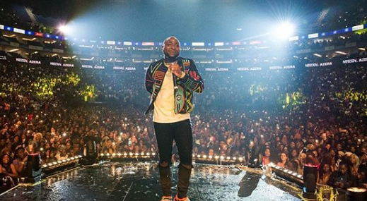 Davido claims he paid £55,000 to wait for seats to be filled at O2 Arena