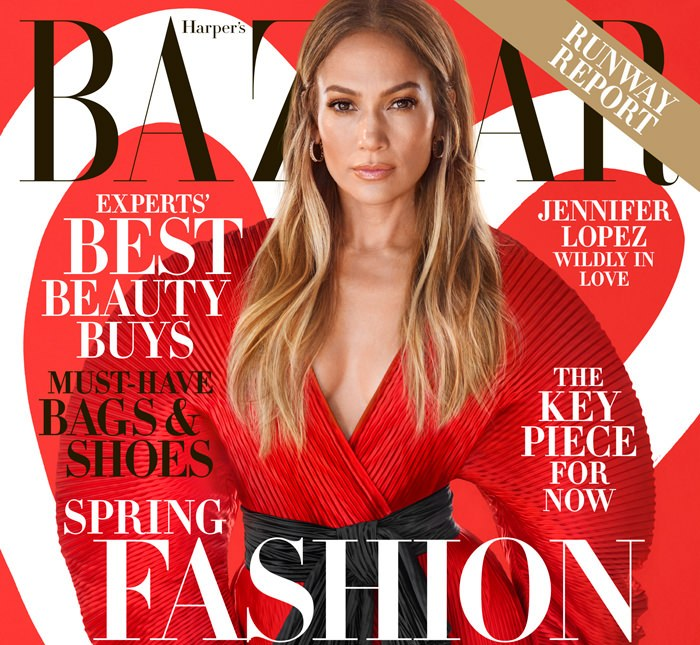 Jennifer Lopez covers February edition of Harpers Bazaar