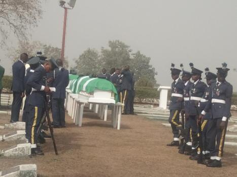 NAF helicopter crash victims who died in combat buried in Abuja