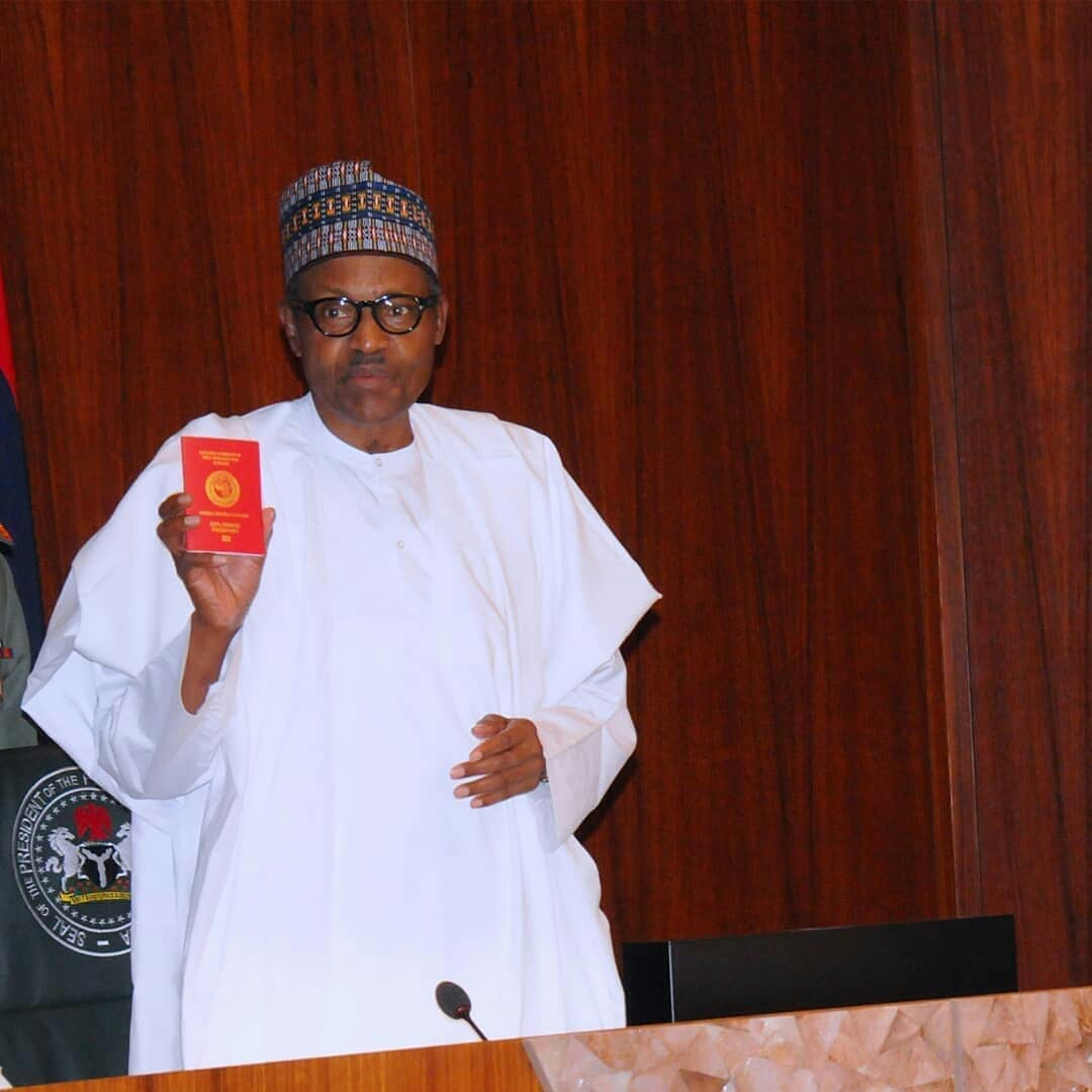 Buhari launches new passport with 10 years validity