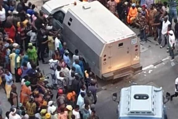 "Nigeria Decides: ""What is your headache?"" – Tinubu reacts on two bullion vans at his home"