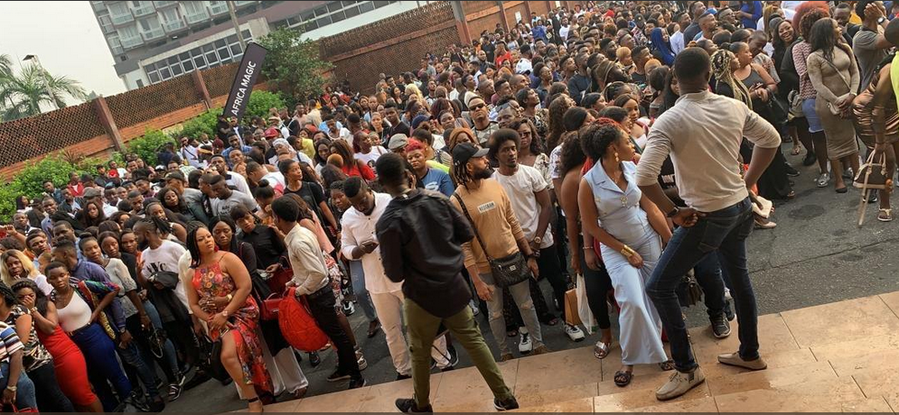 """Are we a serious nation at all"" – Nigerians react to mammoth crowd at BBN audition"