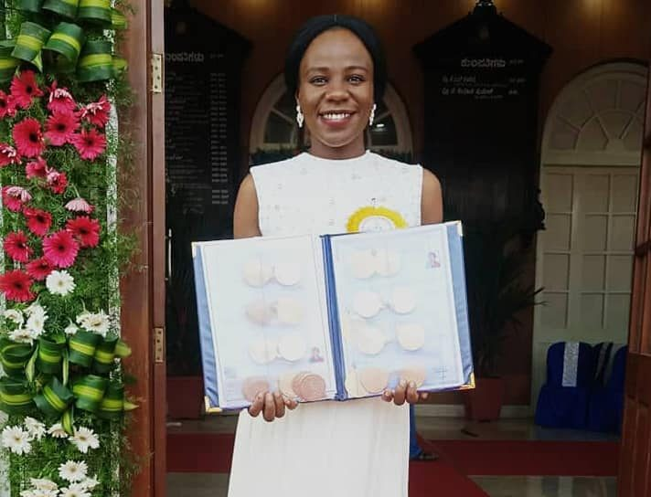 Nigerian, Stella Emelife Chinelo breaks 100-year Indian academic record