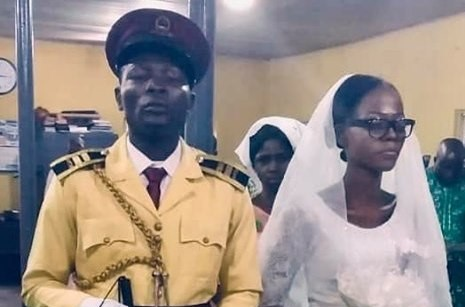 Photos: Visually impaired LASTMA officer, ties the knot