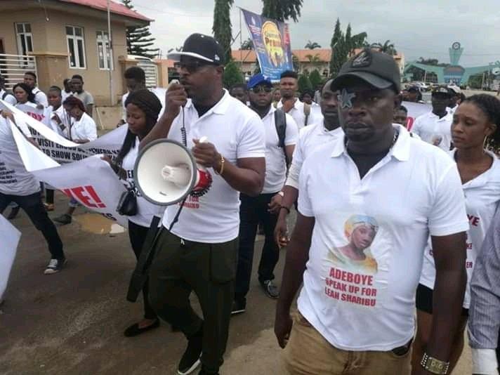 Felix Duke leads protest asking Adeboye to speak against nationwide killings