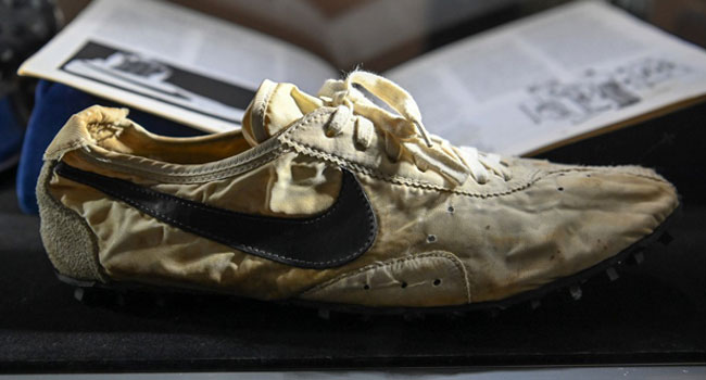 Nike rare 'Moon Shoe' sneakers sell for $437,500 at auction