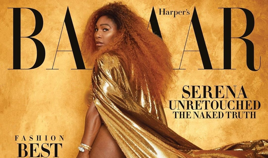 Serena Williams, unretouched is the cover star for Harper's Bazaar