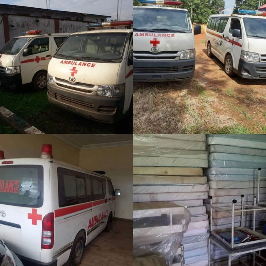 ICPC unearths hidden ambulances, medical equipment meant for hospitals in Edo