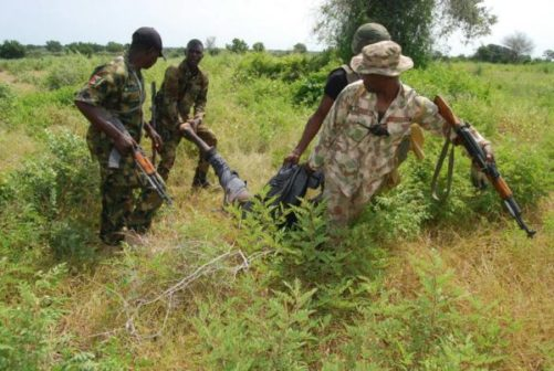 Nigerian army accused of burying soldiers in secret cemetery