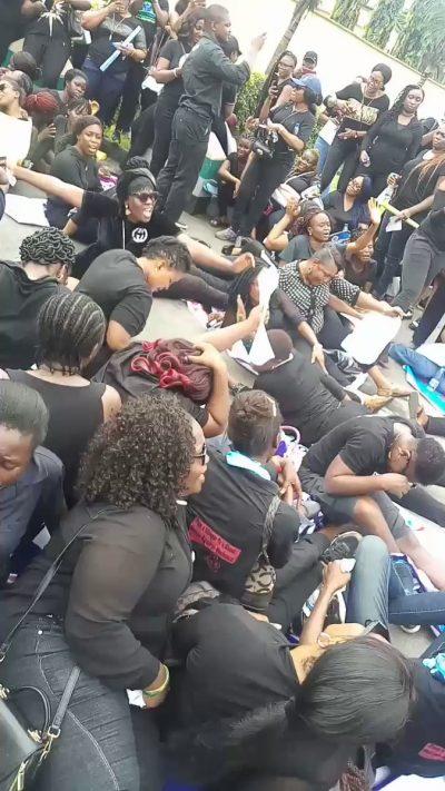 Women protest rampant killings in Rivers hotels