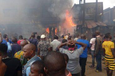 Five killed, forty buildings, 500 shops razed in Onitsha tanker fire