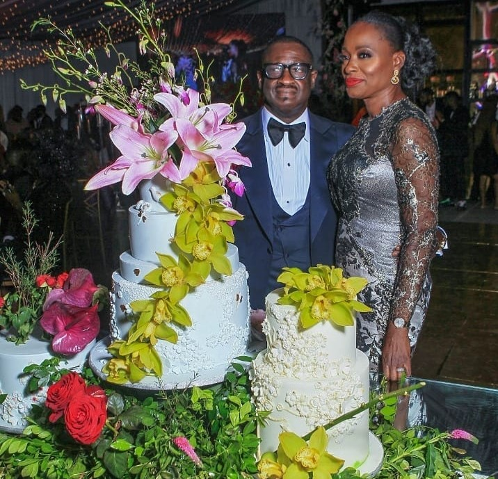 Skymit motors boss, Tayo Ayeni fetes high society for his wife, Adetutu's 50th birthday