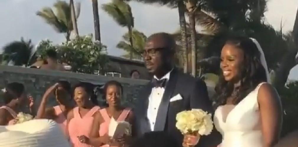 Gov Akeredolu's daughter holds white wedding in Mauritius