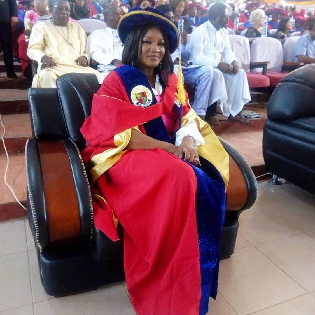 Omotola Jalade-Ekeinde gets honourary degree from Igbinedion University