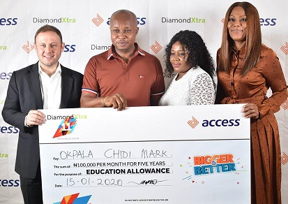 Access Bank rewards customer with education allowance for 5 years