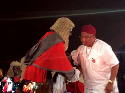New Imo gov, Uzodinma takes oath of office