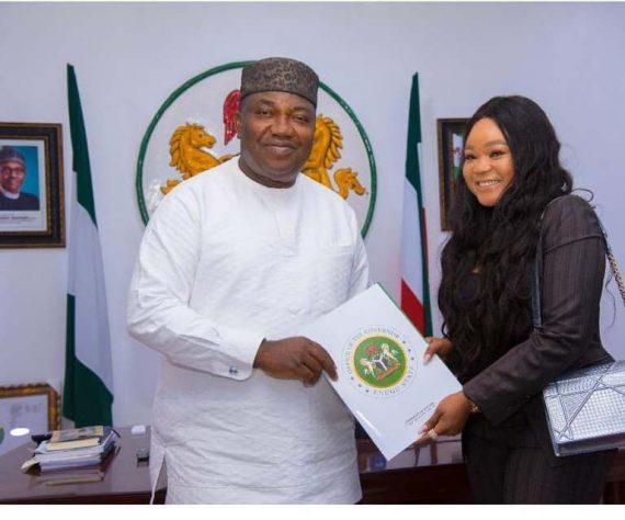 Ugwuanyi appoints actress, Rachael Okonkwo, Youth Ambassador
