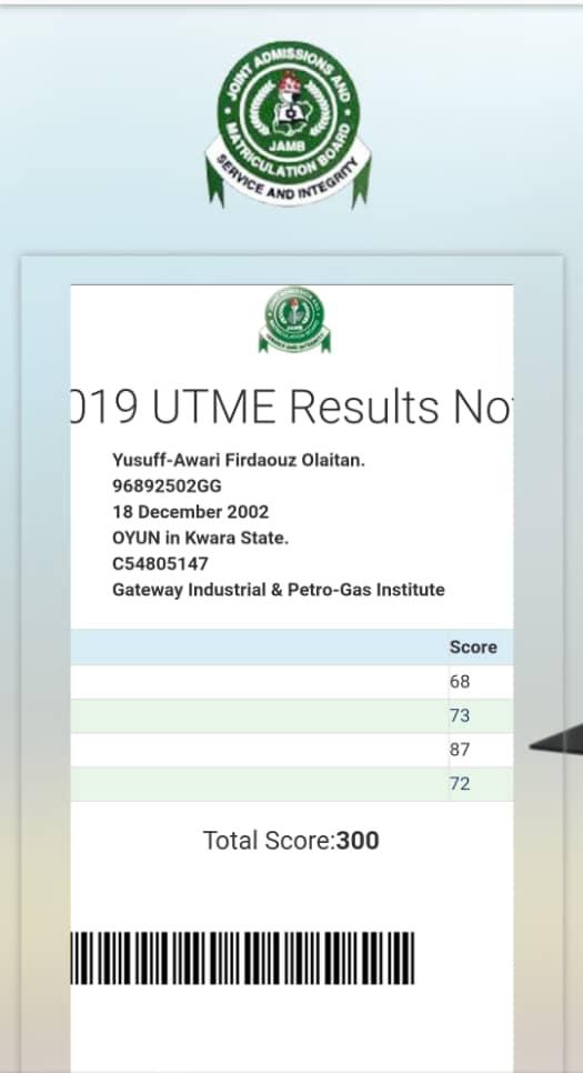Nigerian student denied university admission despite scoring 300 in UTME