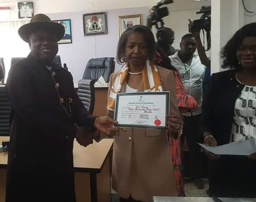 INEC declares PDP's Diri winner of Bayelsa's governorship election, receives Certificate of Return