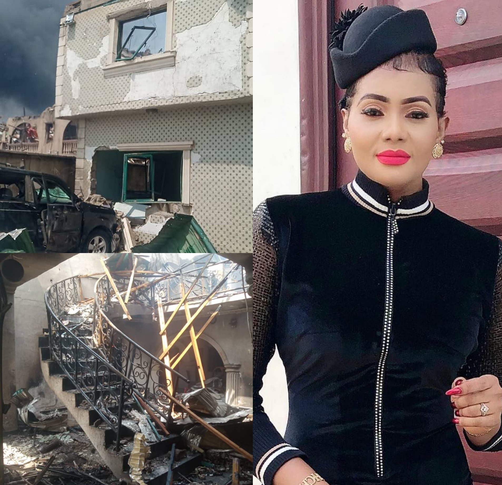 Nollywood actress loses houses, cars, beauty complex to Abule-Ado explosion