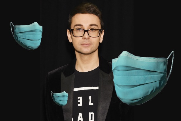 Designer Christian Siriano creates face masks for health workers