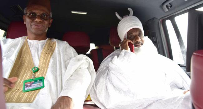 El-Rufai visits Sanusi, leads him out of Nasarawa to Lagos