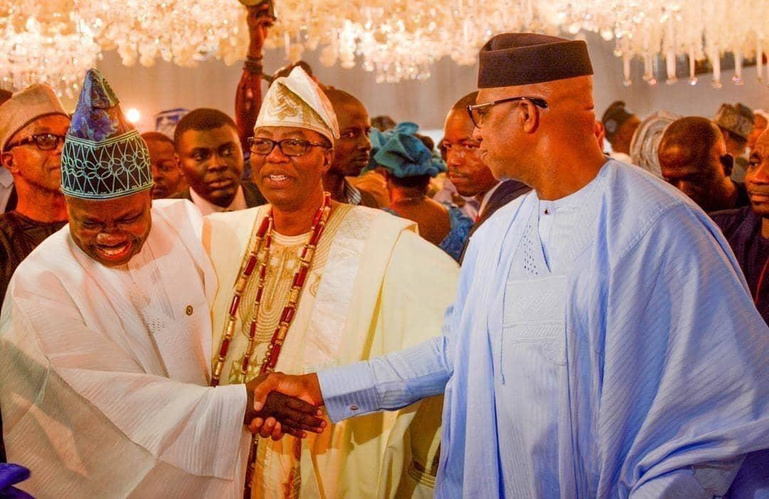 No more bad blood as Ibikunle Amosun attends Gbenga Daniel's son's wedding