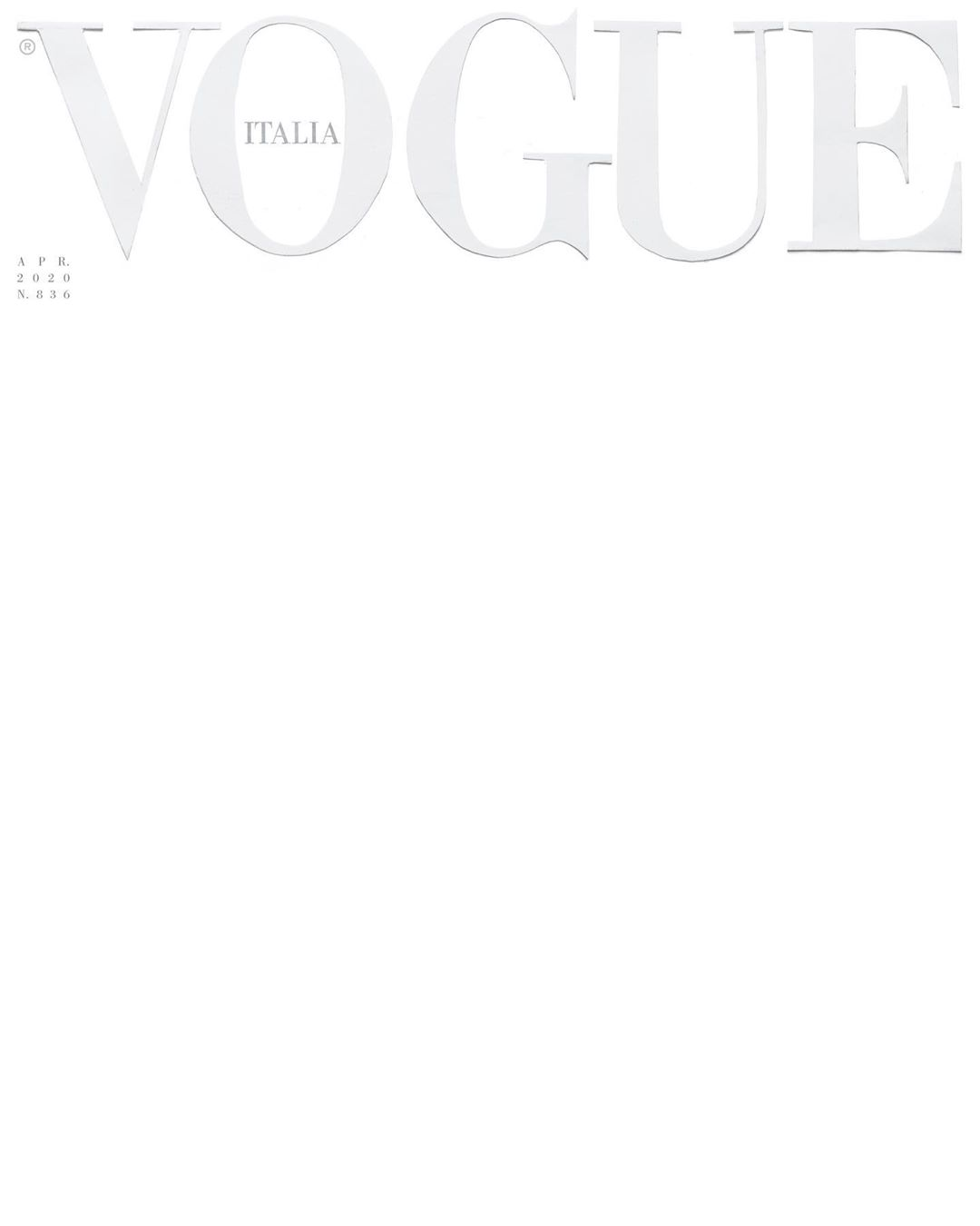 COVID-19: Vogue Italia makes a powerful statement with blank white cover