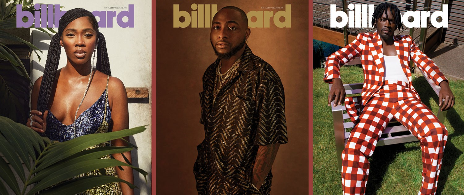 Tiwa Savage, Davido, Mr Eazi cover Billboard's latest issue as they speak on revolutionizing music in Africa