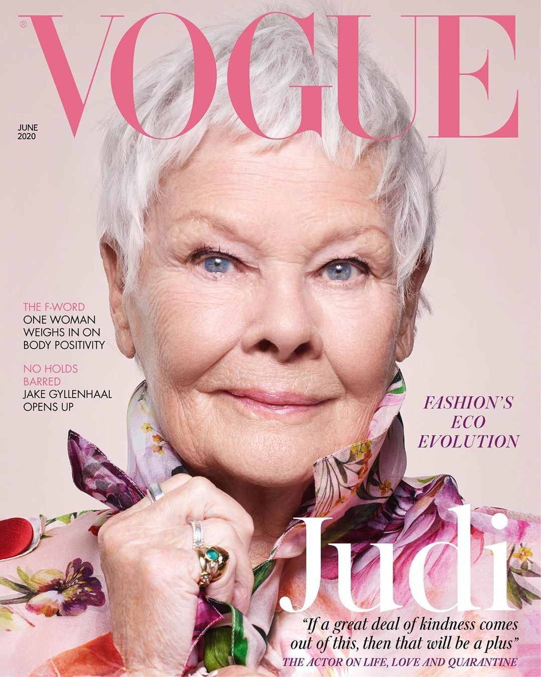 Judy Dench makes history as oldest person to score a Vogue cover