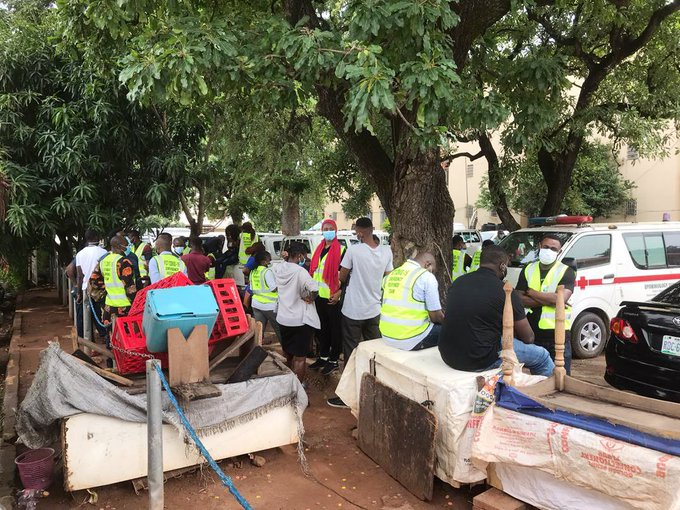 See photos of Abuja COVID-19 response team on strike over non-payment of allowances