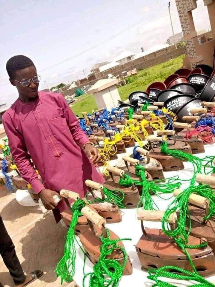 House of Reps member, empowers constituents with charcoal irons (Photos)