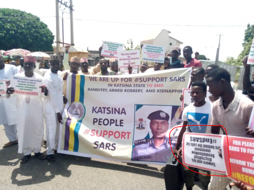 Youths in Northern Nigeria carry out pro-SARs rally