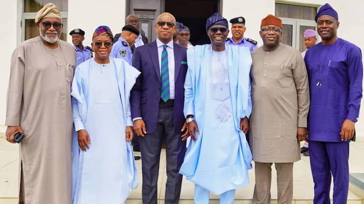 South West Govs, ministers pay condolence visit to Sanwo-Olu