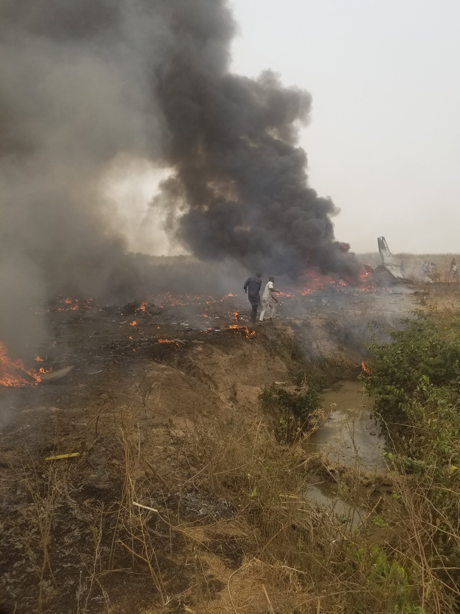 Just in: Military aircraft crashes in Abuja killing all 7 passengers