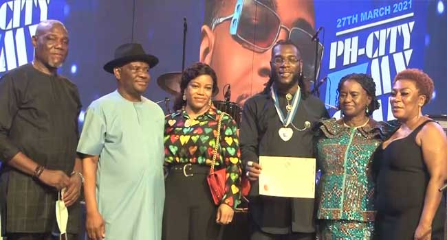 Wike bestows Rivers State's second highest award on Burna Boy